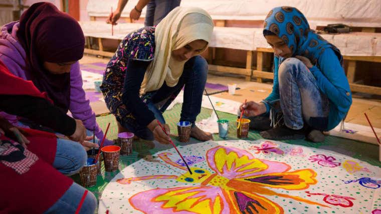 Refugee children in Lebanon find freedom in art